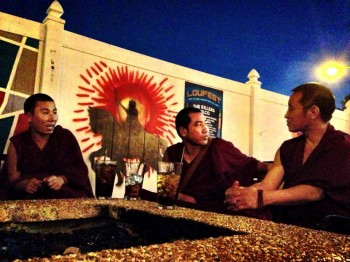 Tibetan Monks bless the Royale on Aug 25th